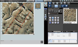 DSX500i Microscope Mechanized 2D measurement Software Screenshot