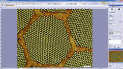 Work flow 1 : Image Acquisition > Olympus Stream materials science software > Olympus Stream, image analysis software
