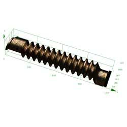 3d image of a precision screw