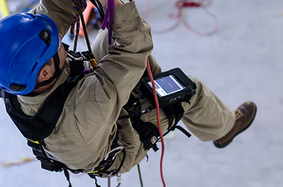Rope Access with EPOCH 6LT - NDT Flaw Detector