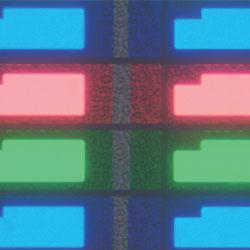 LCDカラーフィルター:透過明視野観察