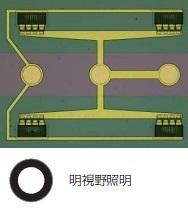 ウエハーサンプル上の回路パターン - 明視野照明