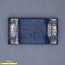 Ceramic capacitor ob10×z1×_BF Fine HDR 2D caliper Measurement