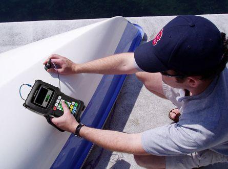 boat hull testing 38DL PLUS