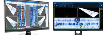 Comparison of  two NDT inspection software, WeldSight for advanced weld inspection analysis and OmniPC for basic phased array ultrasonic testing data analysis