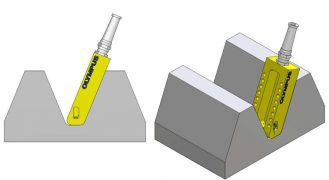 Drawing which show the ECA probe fitting into the tooth profile